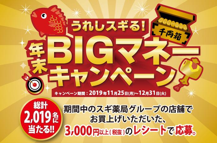 うれしスギる!年末BIGマネーキャンペーン